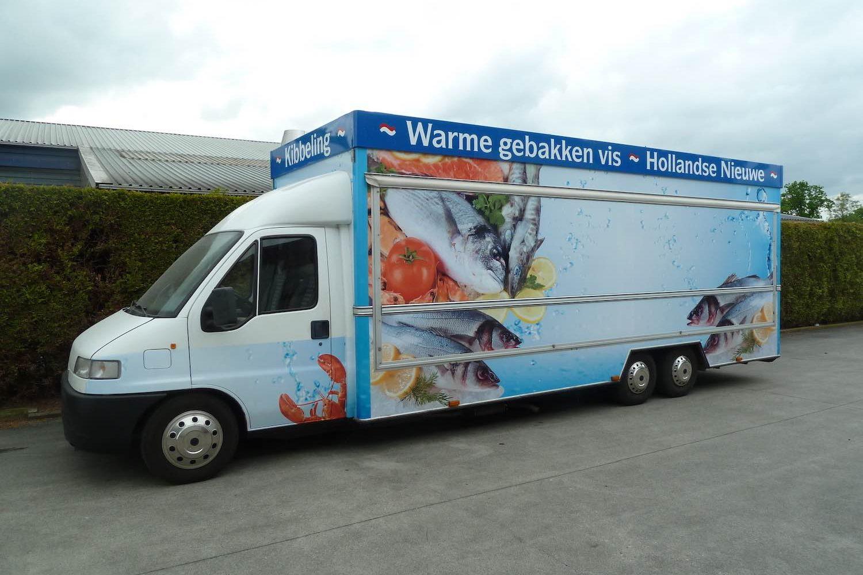 Zeer mooie De Vries Verkoopwagen voor vis